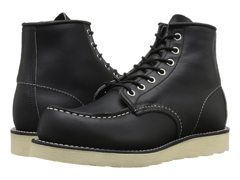 Red Wing Heritage - 6 Moc Toe (Black Harness) Men's Lace-...