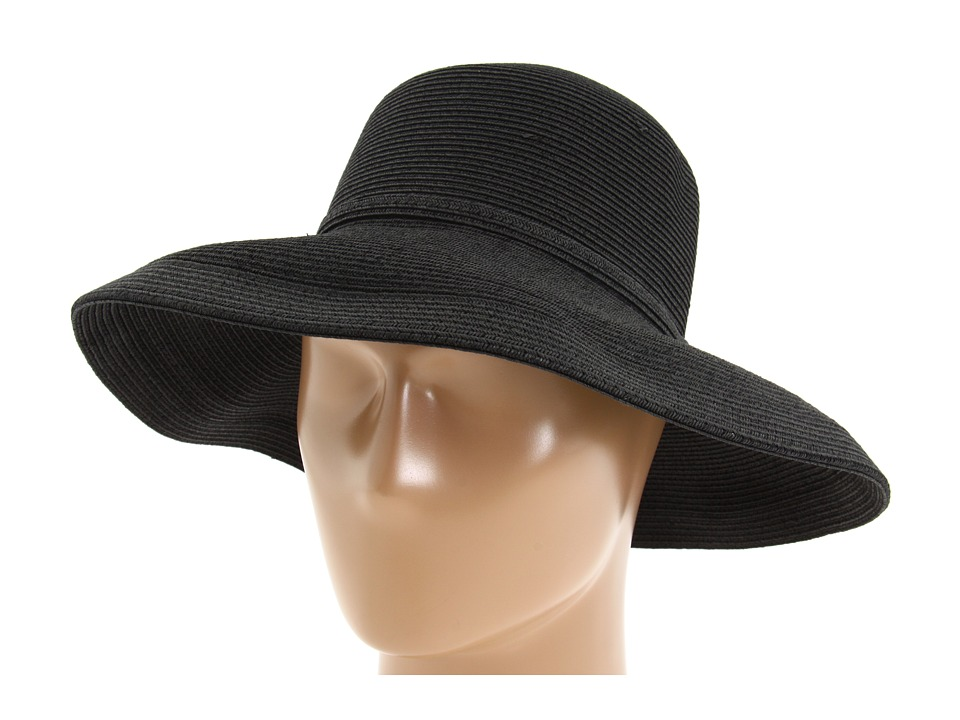 San Diego Hat Company - Paperbraid Hat Large Brim (Black) Traditional Hats