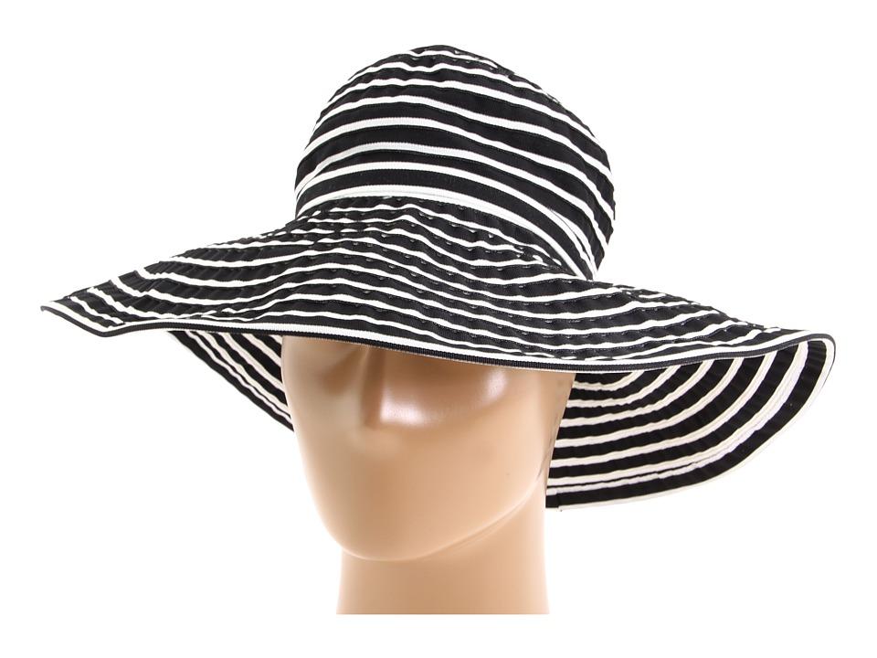 San Diego Hat Company - Ribbon Braid Hat Large Brim Stripe (Black/White Stripe) Traditional Hats