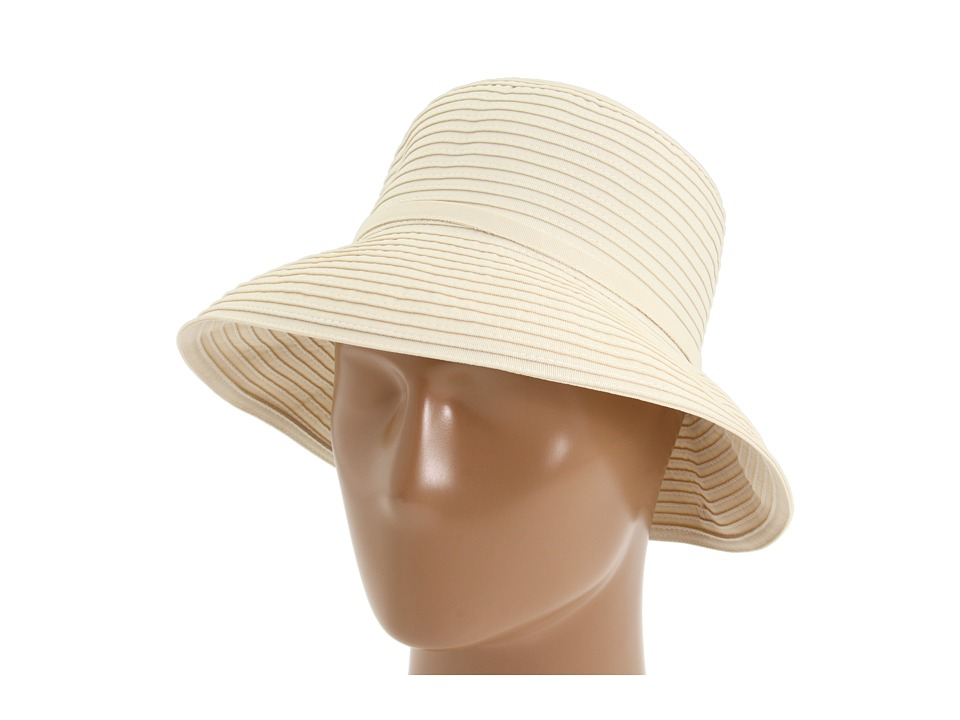 San Diego Hat Company - Ribbon Crusher Small Brim Hat (Cream) Bucket Caps