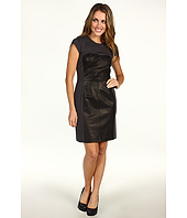 Rebecca Taylor - Ponte and Leather Bustier Dress
