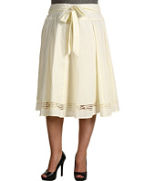 Jones New York - Plus Seamed Skirt With Embroidery