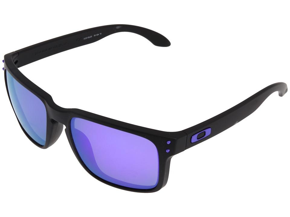 Oakley - Holbrook (Julian Wilson Matte Black w/Violet Iridium) Sport Sunglasses