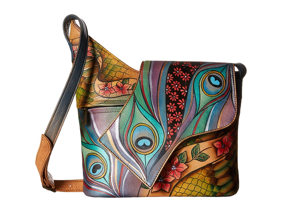 Anuschka Handbags - 257 (Dancing Peacock) Handbags