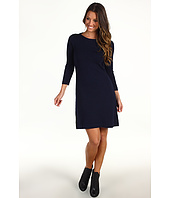 Michael Stars - Cashmere Blend Envelope Neck Sweater Dress w/ Leather Trim