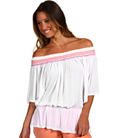 Michael Stars - Sheer Jersey Smocked Peasant Top
