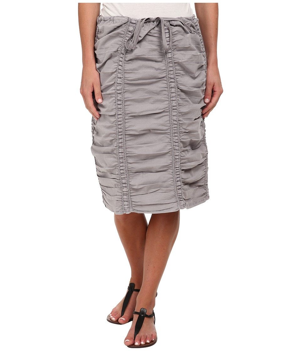 XCVI Double Shirred Panel Knee Length Skirt (Cirrus Grey)...