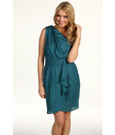 BCBGeneration Pleat Flounce Dress at Zappos.com :  easy and handsome dress pleat flounce dress womens womens apparel