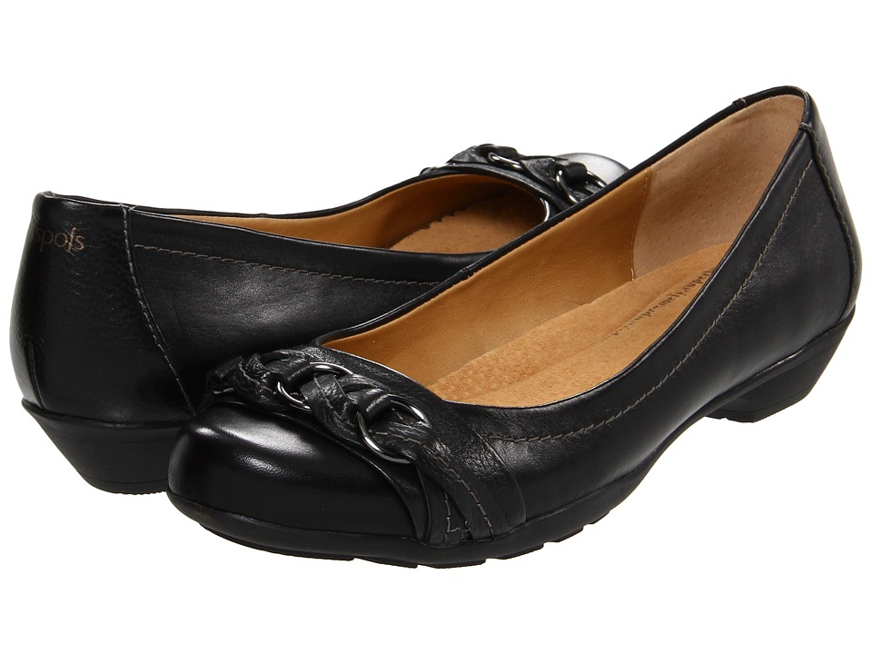 Softspots - Posie (Black Calf Ionic) Women's Slip on  Shoes
