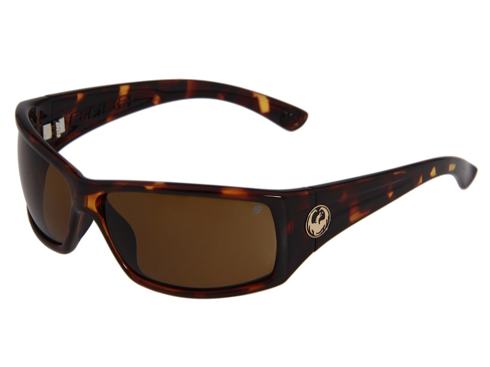 Dragon Alliance Cinch Polarized Tortoise/Bronze Sport Sunglasses