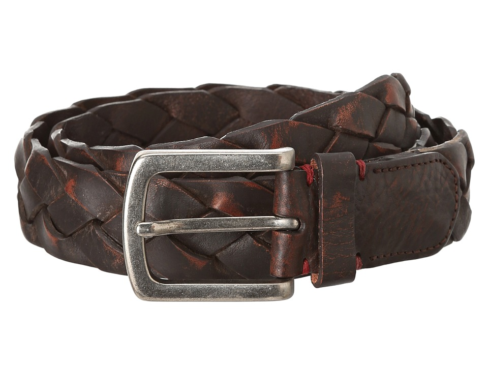 Torino Leather Co. - Washed Leather Braid Belt (Brown) Men