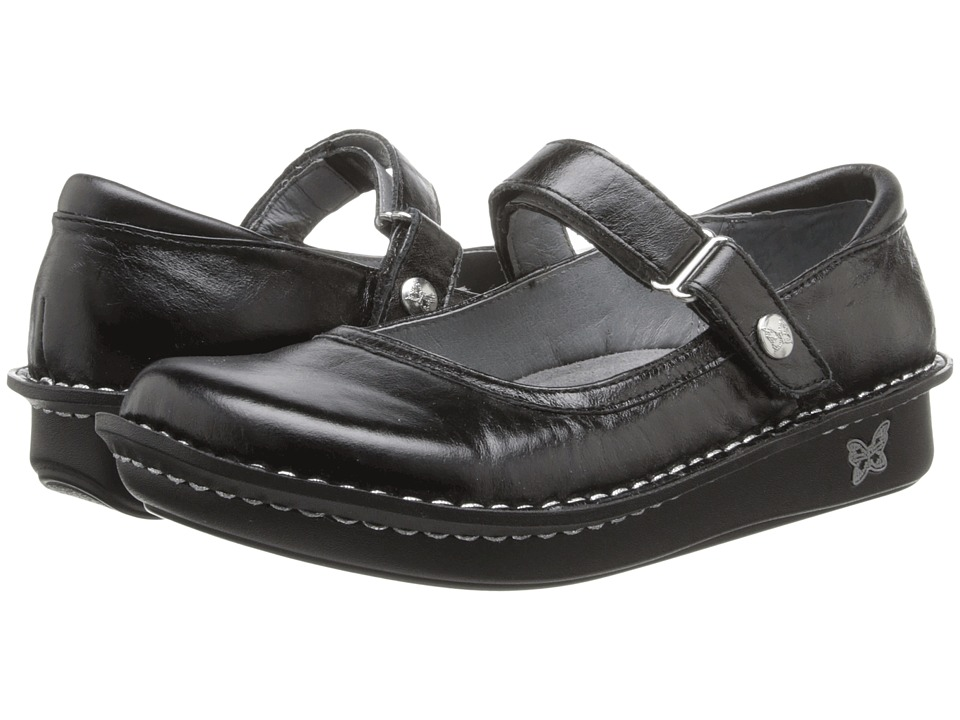 Image of Alegria - Belle (Black Crinkle) Women's Maryjane Shoes