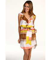 Jessica Simpson - V-Neck Ruffle Dress w/ Shirttail Hem