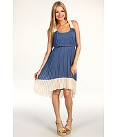 Jessica Simpson - Pleated High-Low Colorblock Dress