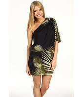 Jessica Simpson - Palm Print One Shoulder Mini Dress