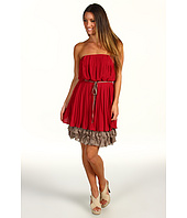Jessica Simpson - Strapless Corkscrew Ruffle Dress