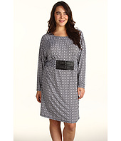 MICHAEL Michael Kors Plus - Plus Size Rattan Geo Print Belted Dress