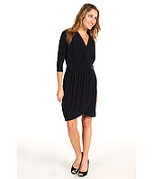 MICHAEL Michael Kors Petite - Petite 3/4 Sleeve Belted Gathered Dress