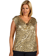 MICHAEL Michael Kors Plus - Plus Size Abstract Camo Cap Sleeve Top