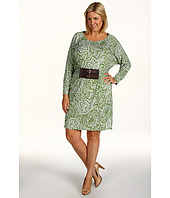 MICHAEL Michael Kors Plus - Plus Size Paisley Belted Waist Dress