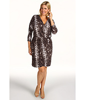 MICHAEL Michael Kors Plus - Plus Size Bohemian Python Print Faux Wrap Dress