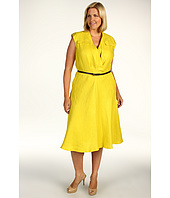 Jones New York - Plus Size Shelter Island S/L Belted Flap Pocket Dress