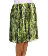 Jones New York - Plus Size Shelter Island Pleated Mid Length Skirt