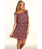 BCBGeneration - Print Ruffle Sleeve Dress