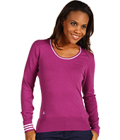 adidas Golf - 3-Stripes Scoop Neck Sweater