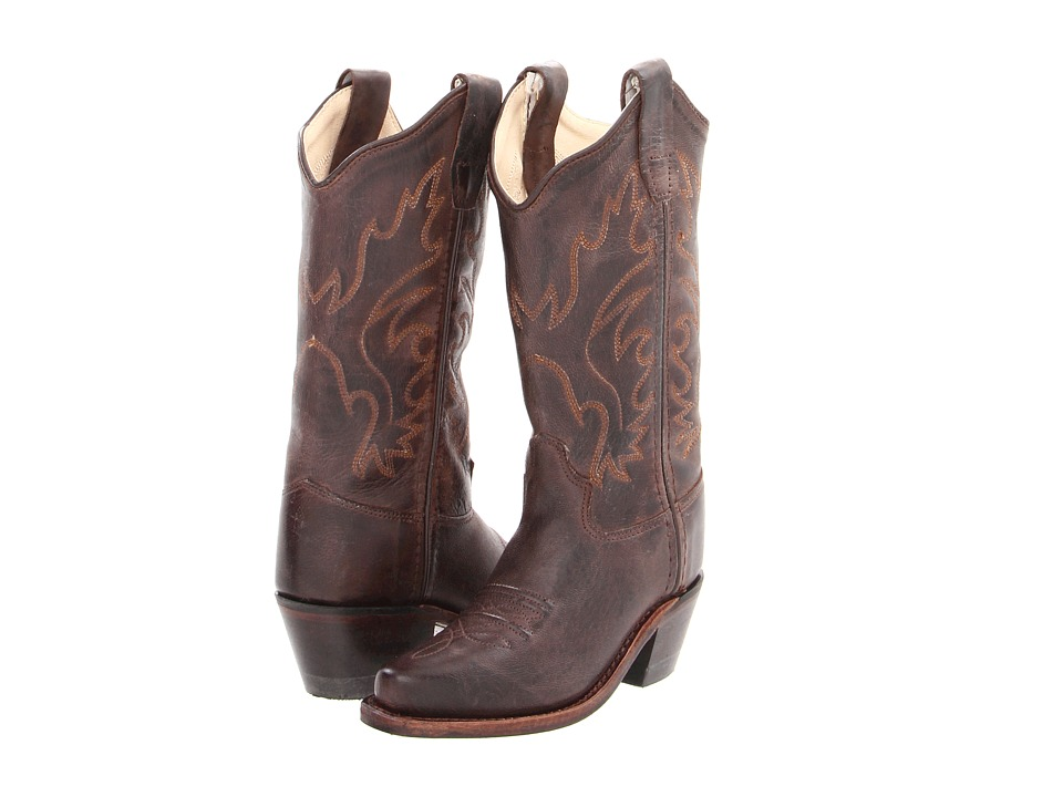 Old West Kids Boots Western Snip Toe Boot Toddler/Little Kid Brown Canyon Cowboy Boots