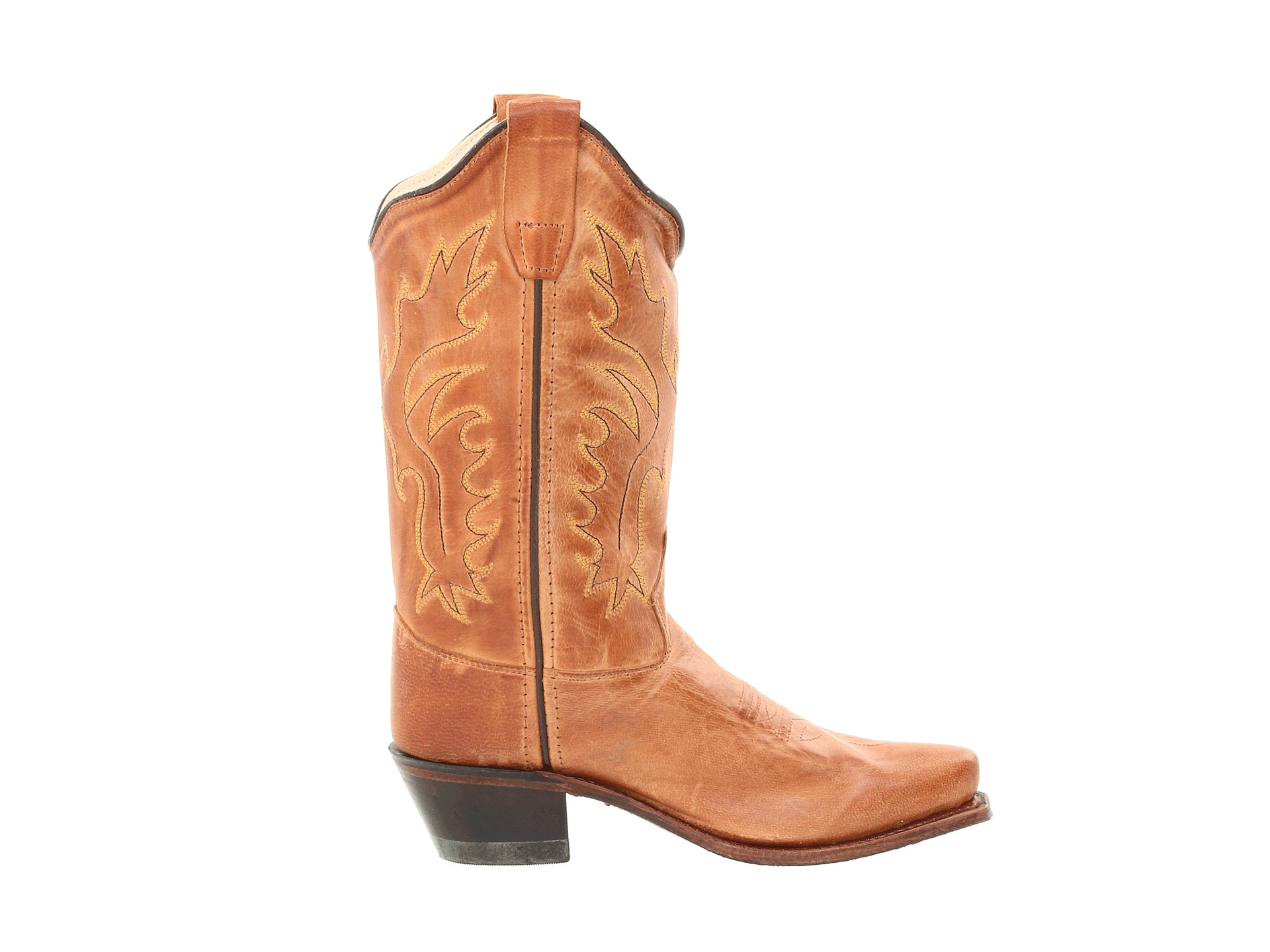 Old west kids boots western snip toe boot toddler little kid tan