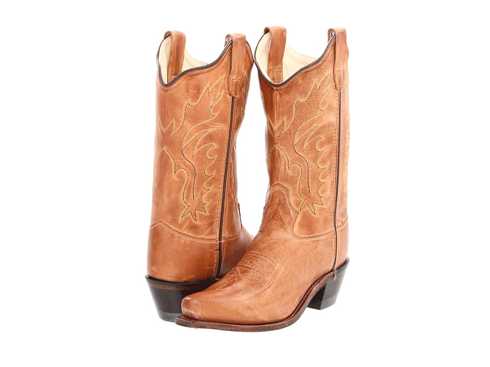 Old West Western Snip Toe Boot (Toddler/Little Kid) (Tan Canyon) Cowboy Boots