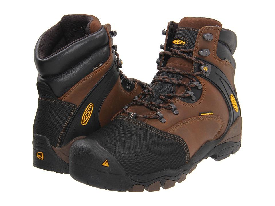 Keen Utility - Louisville Met (Slate Black) Mens Work Lace-up Boots