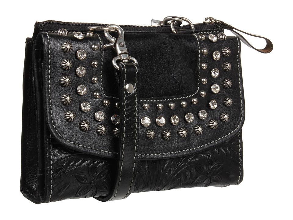 American West - Texas 2 Step Grab-and-Go Combination Bag (Black) Shoulder Handbags