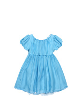 Dolce & Gabbana - Silk Chiffon S/S Dress (Toddler/Little Kids/Big Kids)