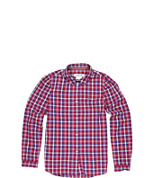 Lacoste Kids - Girls' L/S Plaid Woven (Little Kids/Big Kids)