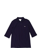 Lacoste Kids - Girls' 3/4 Sleeve Pique Polo w/ Swarovski® Croc (Little Kids/Big Kids)