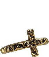 House of Harlow 1960 - Faceted Metal Cross Stack Ring