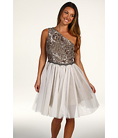 ABS Allen Schwartz - One Shoulder Sequin Top w/ Tulle Skirt