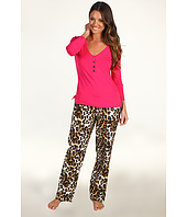 Betsey Johnson - Henley & Flannel Pant PJ Set