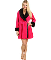 Betsey Johnson - Velour Robe w/ Faux Mink Trim