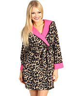 Betsey Johnson - Double Faced Microfleece Robe w/ Hood
