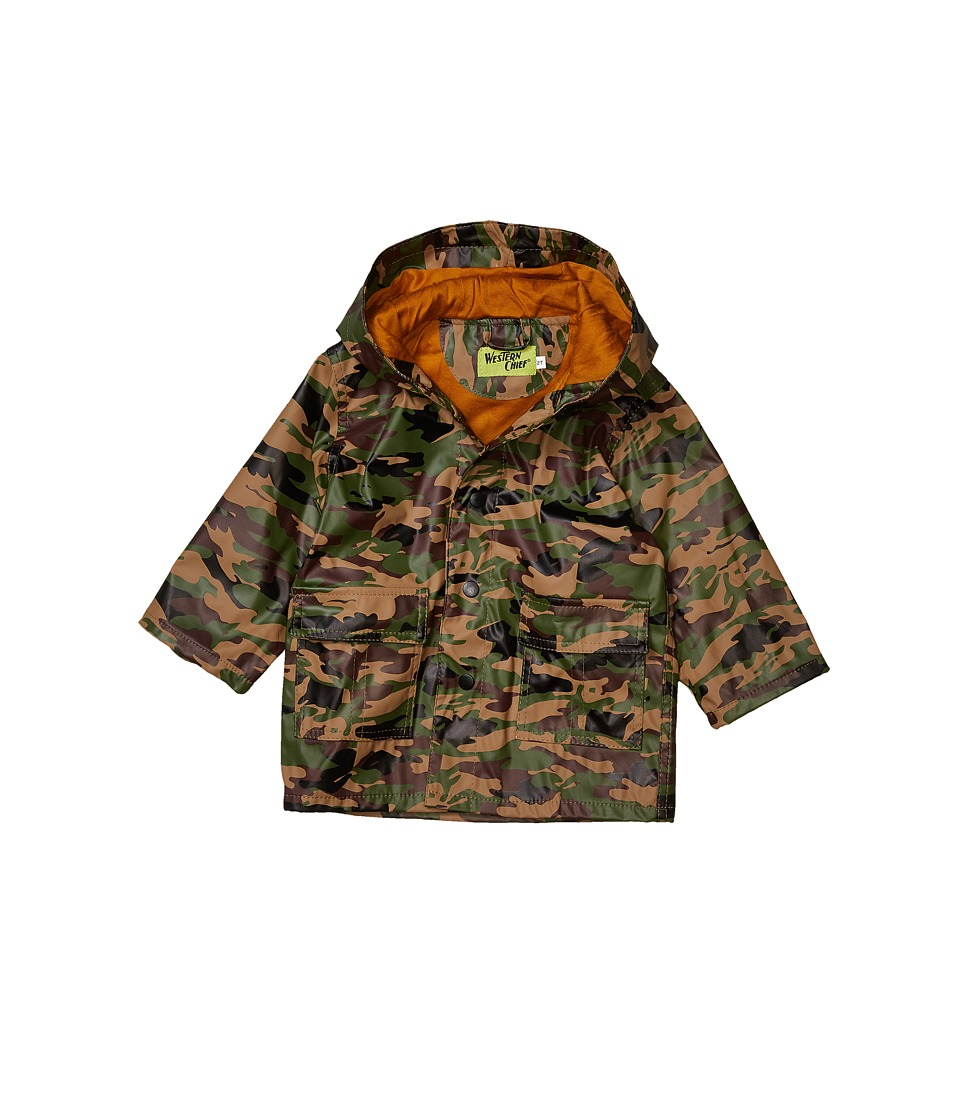 Western Chief Kids - Camo Rain Coat (Toddler/Little Kids) (Camo) Boys Coat