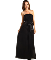 Donna Morgan - Kelly Chiffon Strapless Gown with Charmuse Sash