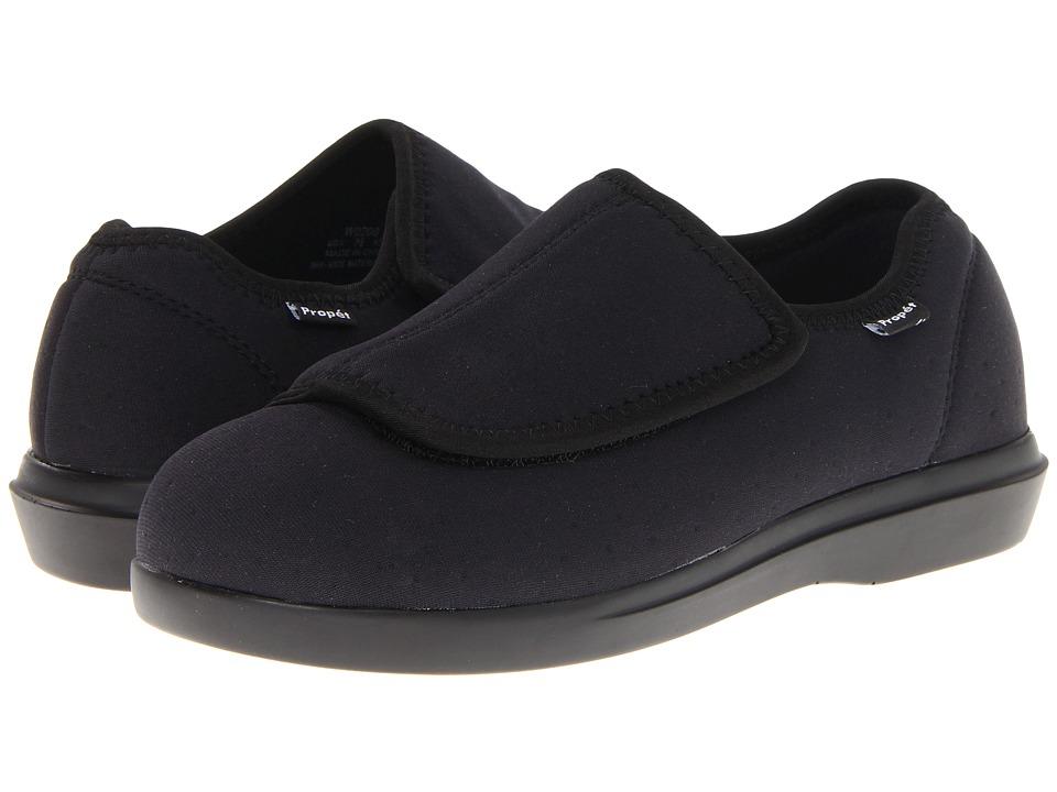 Propet - Cush n Foot Medicare/HCPCS Code = A5500 Diabetic Shoe (Black) Womens Hook and Loop Shoes
