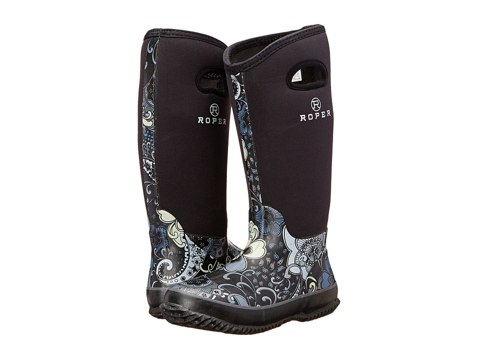 Roper Flower Barn Boot (Black) Women