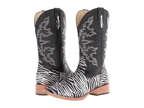 Roper Zebra Glitter Boot Square Toe