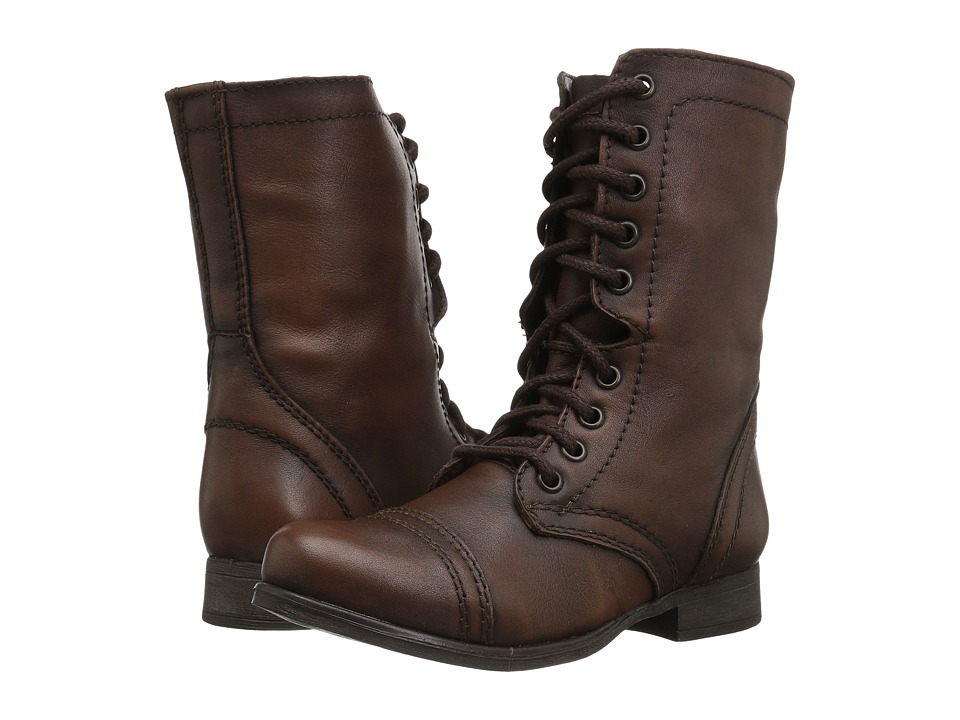 Steve Madden Troopa Combat Boot (Brown Leather)