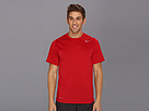 Nike Legend Dri-FIT Poly S/S Crew Top (Gym Red/Carbon Heather/Medium Grey) Men's Short Sleeve Pullover