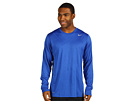 @Nike Legend Dri FIT Poly L S Crew Top Game Royal Carbon Heather Cool Grey Apparel Shirts Tops 377780 476